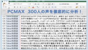 PCMAX300人の声を徹底的に分析!
