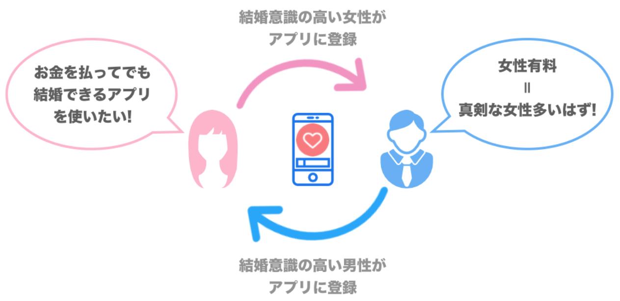女性有料アプリのサイクル