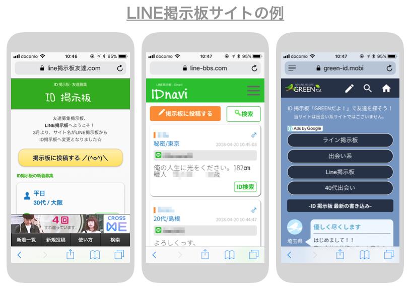 LINE掲示板サイトの例