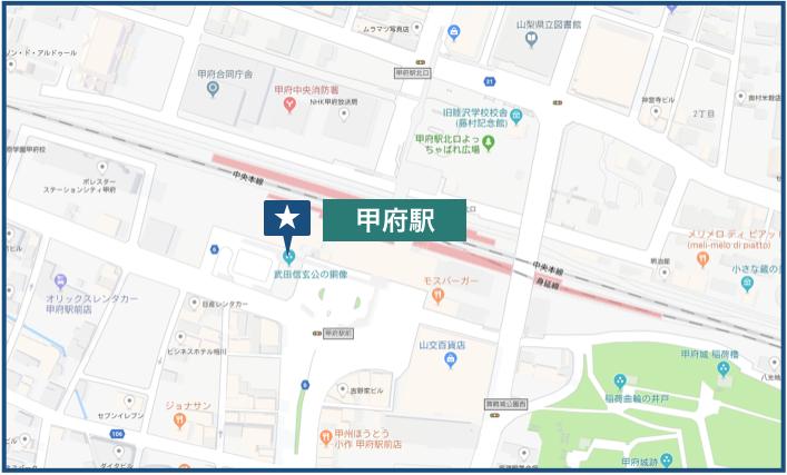 甲府駅周辺の地図