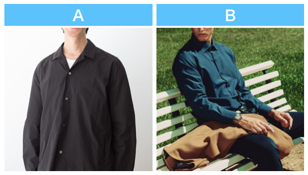 男性の服装A・B