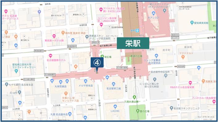 栄駅周辺の地図