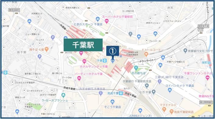 千葉駅周辺の地図