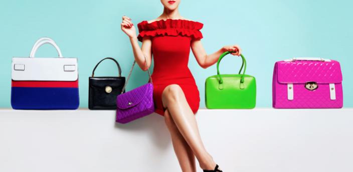 バッグを選ぶ女性のイメージ
