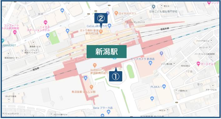 新潟駅周辺の地図