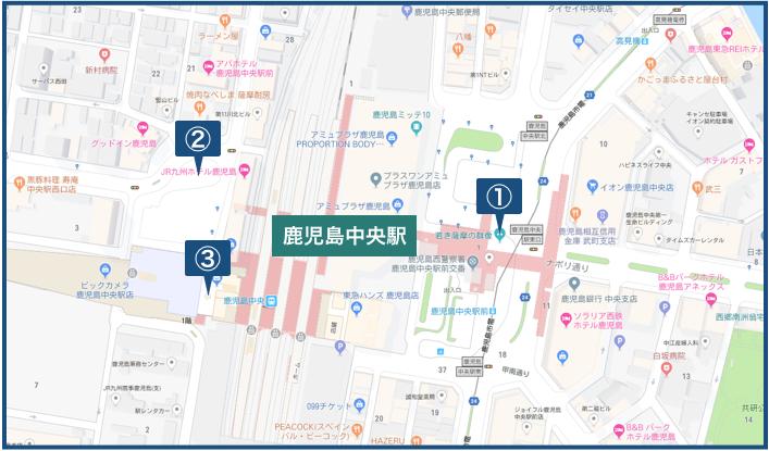 鹿児島中央駅の地図