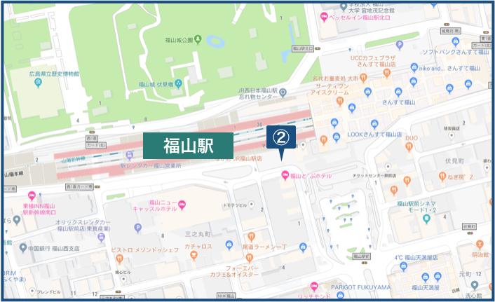 福山駅周辺の地図