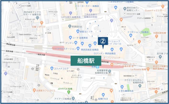 船橋駅周辺の地図