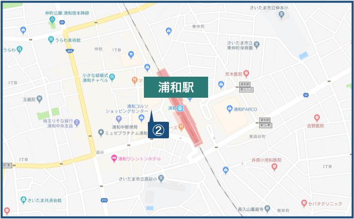浦和駅周辺の地図