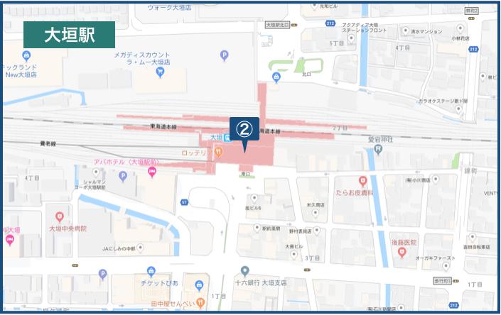大垣駅周辺の地図
