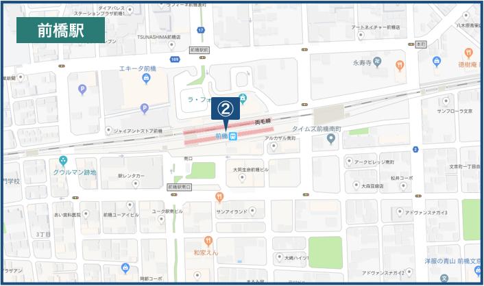 前橋駅周辺の地図