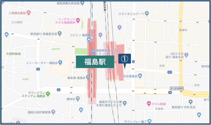 福島駅周辺の地図