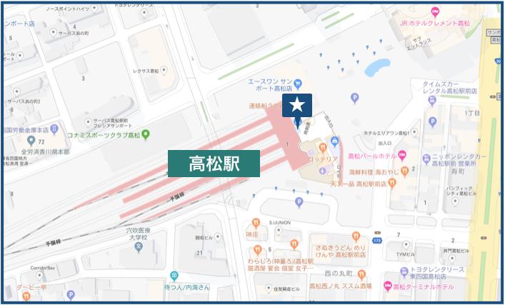 高松駅周辺の地図