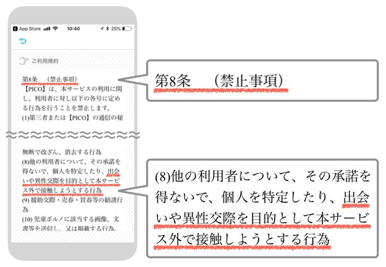 チャットアプリの禁止事項