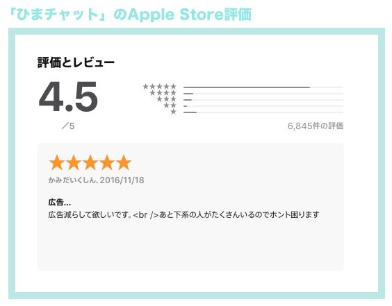 ひまチャットのアプリ評価が高い理由