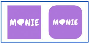 MONIEのアプリ画面