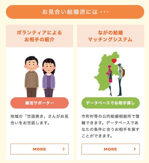 長野県の自治体の結婚相談サービスの例