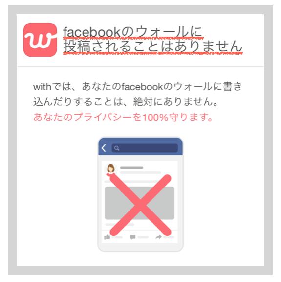 マッチングアプリに登録してもFacebookに表示されることはない