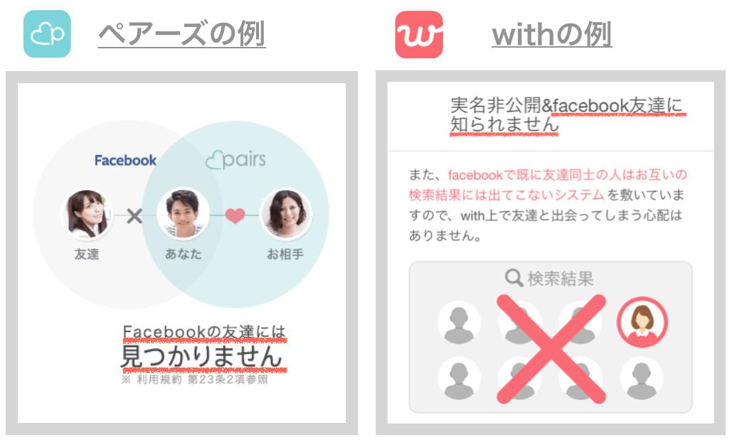 友達にバレにくいアプリ「ペアーズ・with」