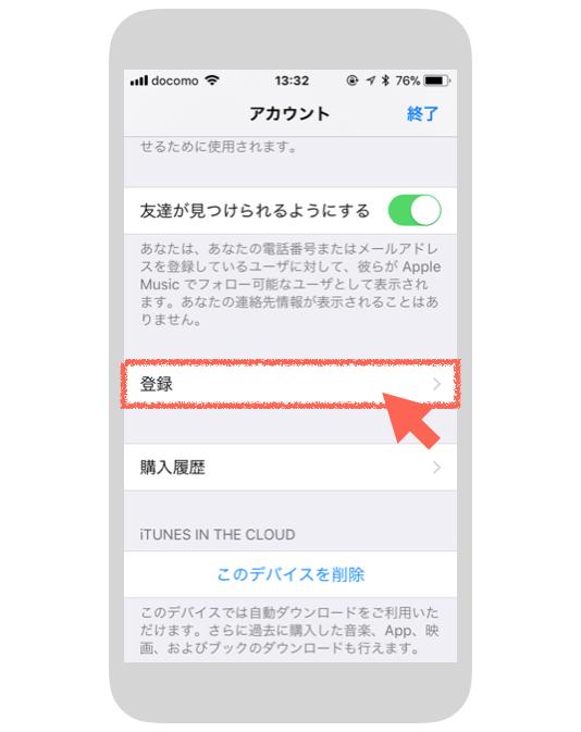 iPhoneのアカウント
