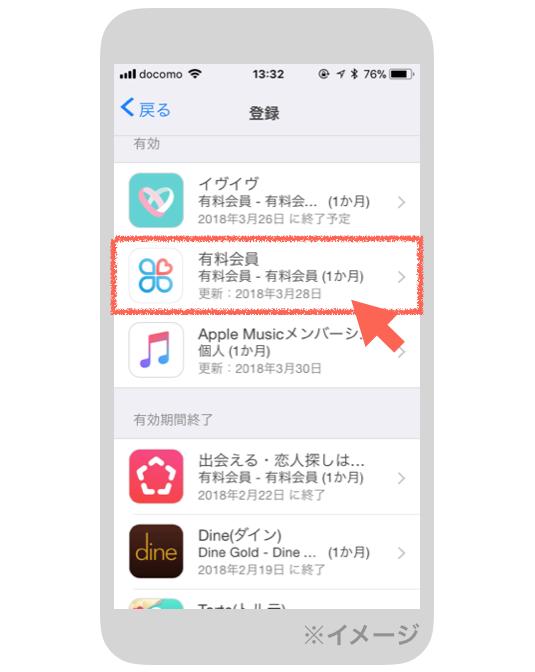 iPhoneの登録画面