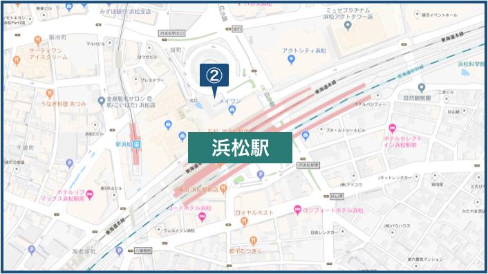 浜松駅周辺の地図