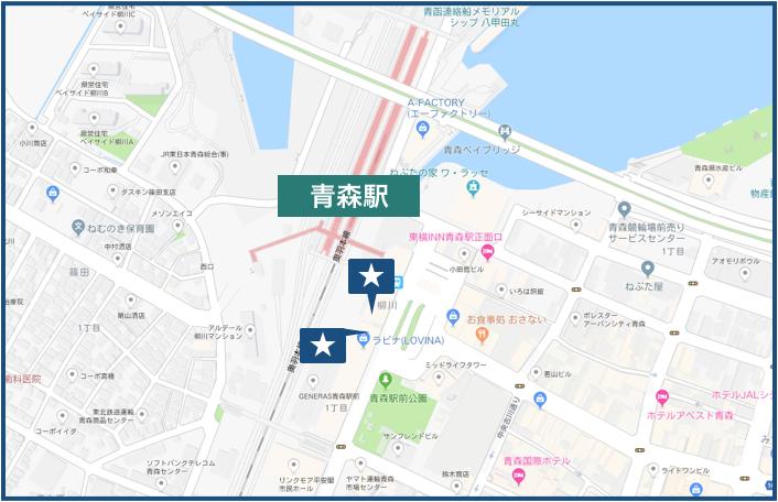 青森駅の地図