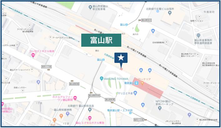 富山駅周辺の地図