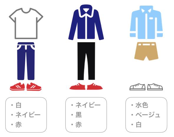 服装「おすすめな色の組み合わせ」