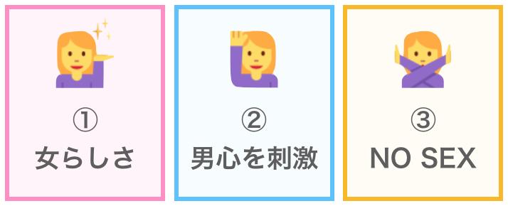 モテる女の3つの条件